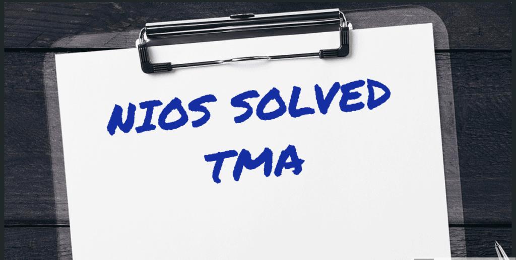 Nios tma answer secondary