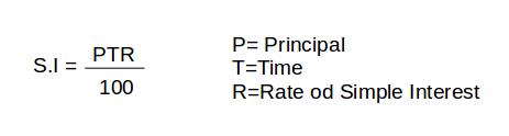 Simple interest formula