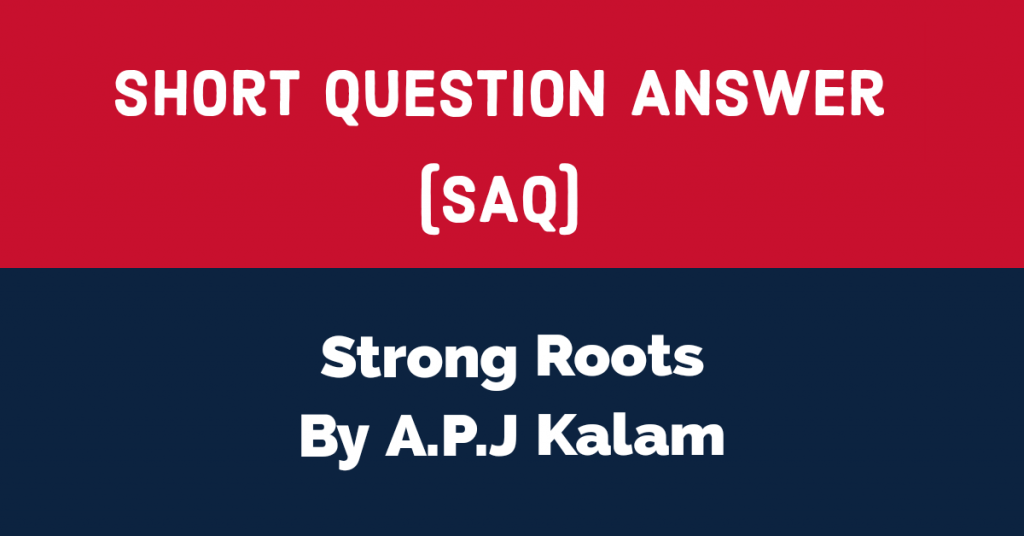 Strong roots Short Question