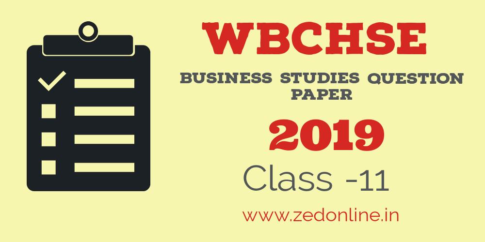 wbchse class 11 business studies question paper