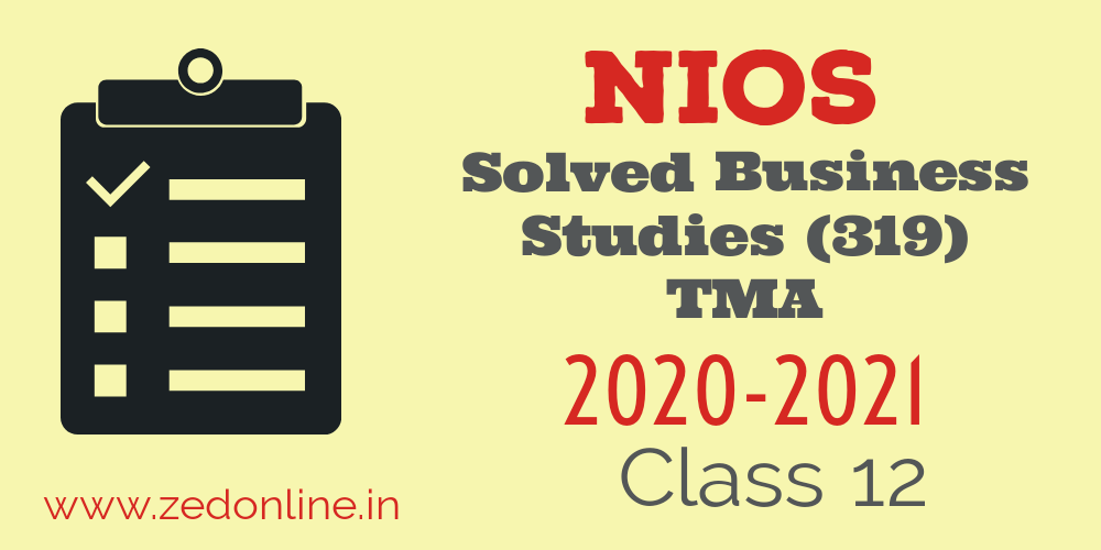 NIOS solved business studies assignment