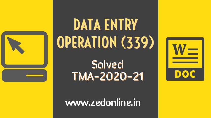 NIOS solved Data entry operation