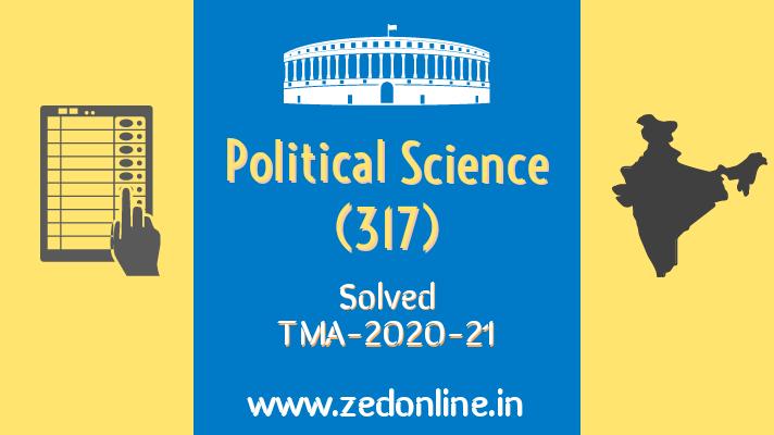 NIOS solved Political scxience TMA